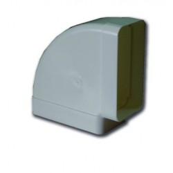 Codo rectangular horizontal